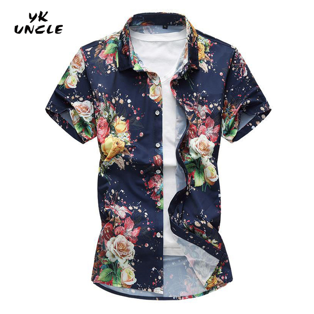 YK WUJEK Marka HawajskA KoszulA MAskie Ubrania MAskie