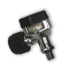 Aceccare Comprimé Air/PCP/Paintball Réservoir/Utilisation de Cylindre Noir Valve pour La Chasse/CO2 Accessoires/Réservoir recharge Pistolet À Air Comprimé Jauge AC921