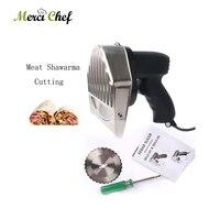 Fast Delivery Kebab Slicer Kitchen Knife Doner Cutter Gyros Meat Cutting Machine Two Blades 110V 240V