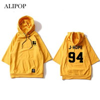 ALIPOP Kpop BTS Bangtan Boys WINGS Album Hoodie Loose Hoodies Clothes Pullover Printed Three Quarter Sleeves
