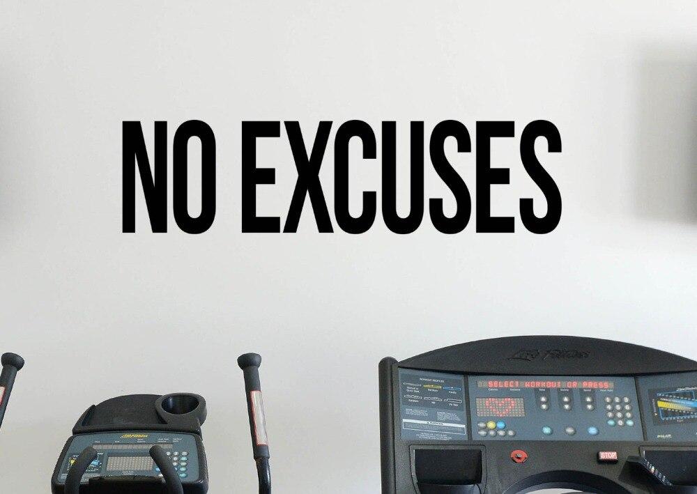 Auto Motivation Gym Style Sticker Cours Pas D\'excuses Vinyle Accueil ...