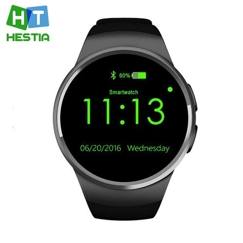 imágenes para Kingwear KW18 MTK2502C apoyo Reloj Teléfono Inteligente Bluetooth Reloj Inteligente Tarjeta SIM TF de Fitness reloj de pulsera para apple samsung S2 de engranajes