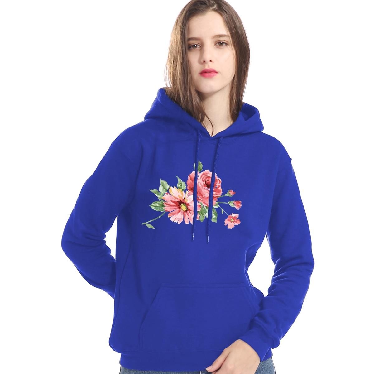 Sweatshirt For Female Hoody 2019 New Fashion Autumn Winter Brand Clothes Print Flower Kawaii Women's Hoodies Harajuku Coats Lady