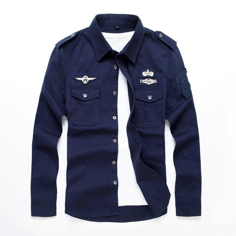 Hot New Men's Shirt Uniforms Casual Long-sleeved Fashion Men's Shirt Shirt M-6XL Free Shipping