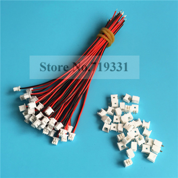 50Sets 2 Pin Single End SH Pitch 1.25mm 28AWG Wire To Board ...