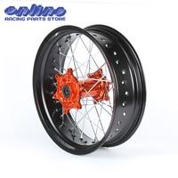 5*17 Supermoto for Rear Wheel Orange Hub Rim KTM SX MXC XC GS SXS EXCF SXSF XCG EXC XCW 125 150 200 250 350 450 530 03 2014