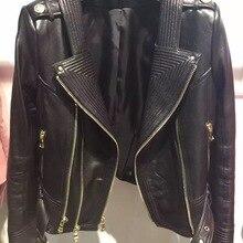 real leather jacket women leather jacket ladies genuine leat