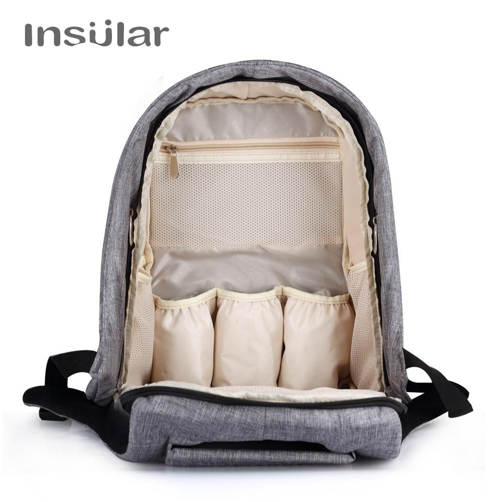Insular Baby Luier Rugzak Tas Mummy Moederschap Nappy Changing Bag - Luiers en zindelijkheidstraining - Foto 4