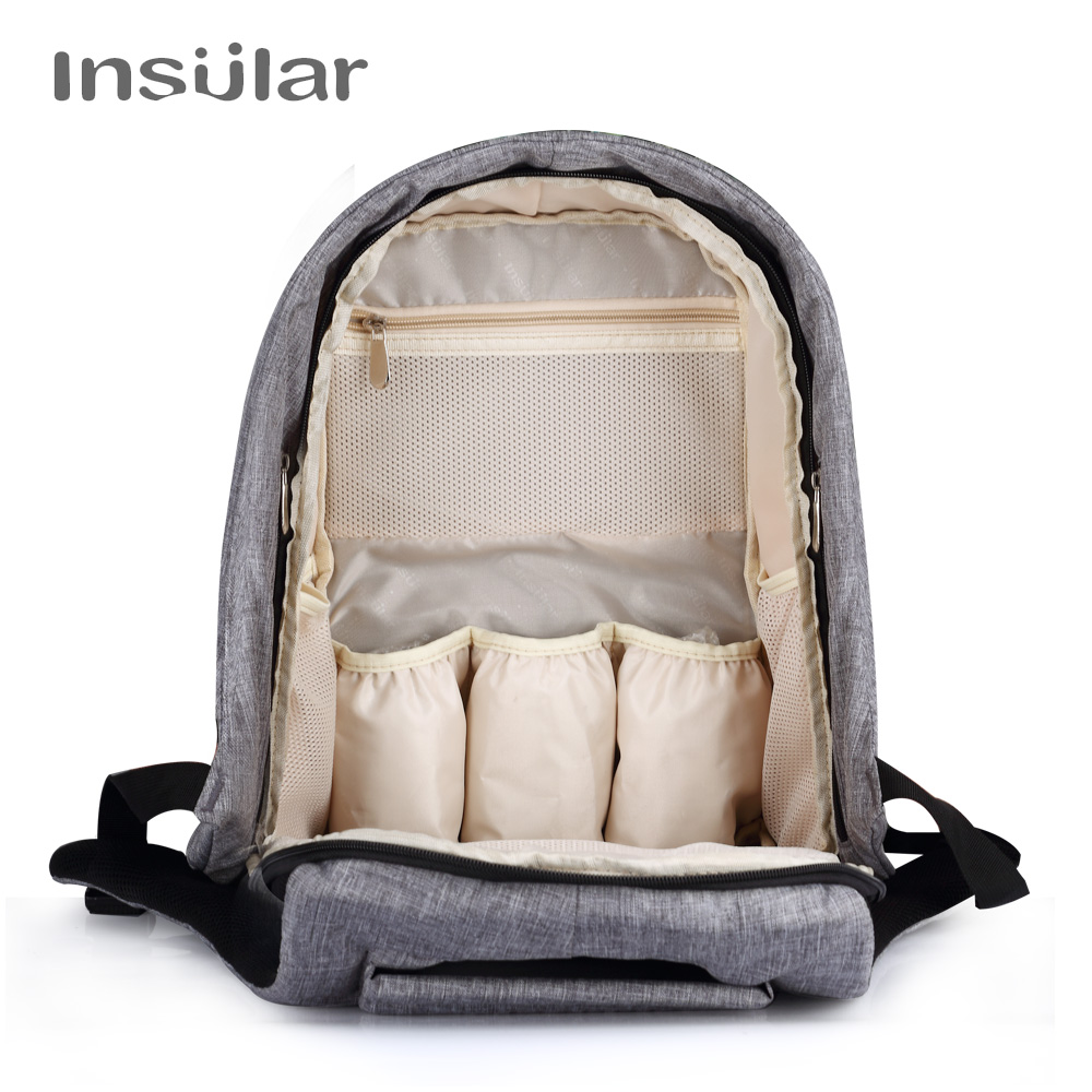 Bolsa de pañales de bebé insular Bolsa de cambiador de pañales de - Pañales y entrenamiento para ir al baño - foto 4