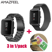 20mm Watch Band For Amazfit Strap Steel For Xiaomi Huami Amazfit Youth Bip BIT Smart Watch