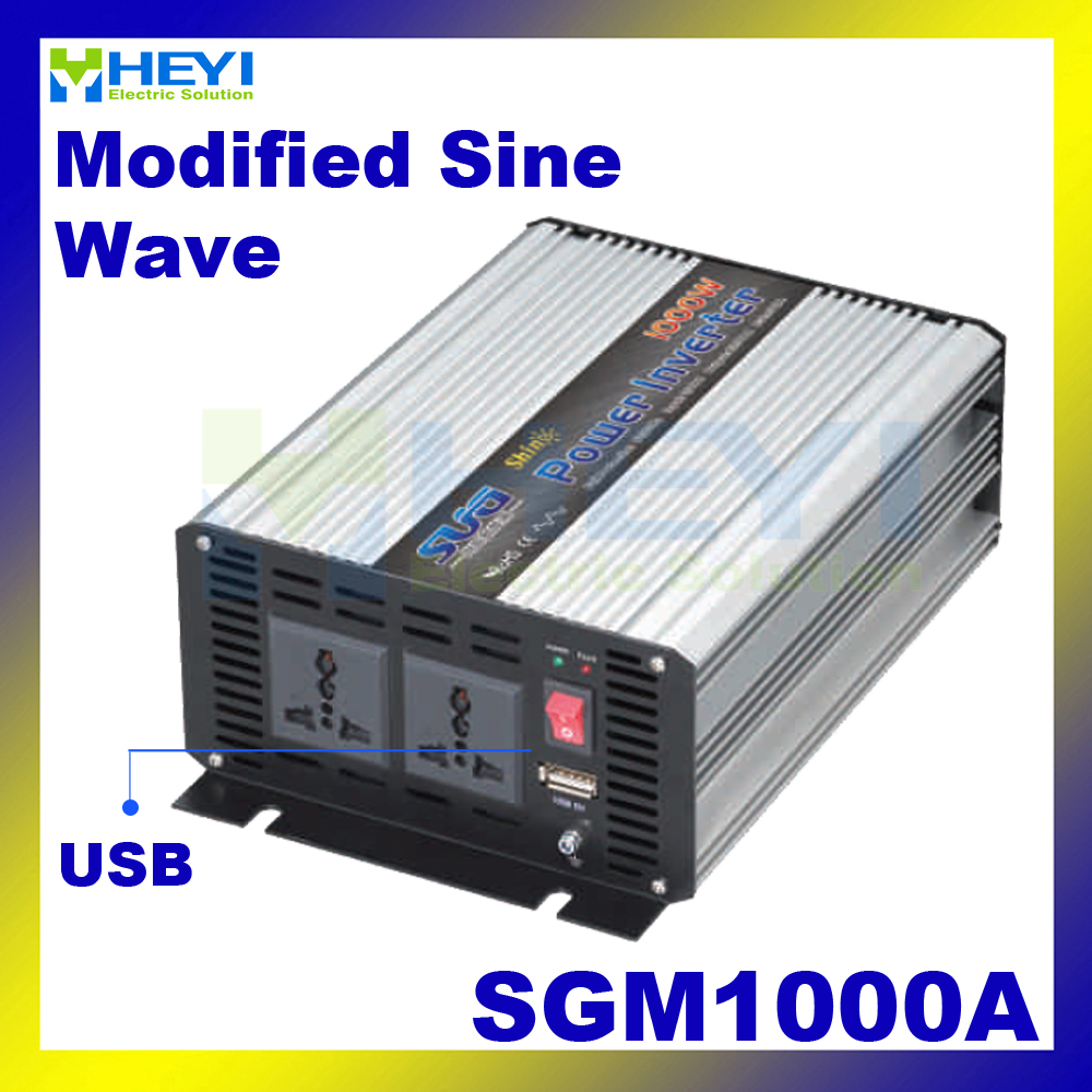 цена на Modified Sine Wave Inverter 1000W with USB input 12VDC 24VDC 48VDC output 110VAC 220VAC solar micro inverter