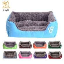 Зимняя теплая кровать для собаки, диван, водостойкий флисовый коврик для кошки, лежак, диванная подушка, кровать для питомца, товары для животных