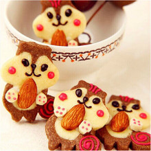 Cartoon Cake cute Squirrel DIY stainless steel biscuit mold cookie Cutter Tools Metal Moulds  Free shipping