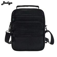 Натуральная кожа Мужская сумка-мессенджер на одно плечо сумка через плечо 4 размера черная сумка мультифункциональная переносная сумка мужская Bolsa