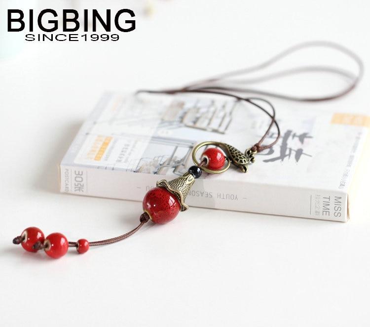 BIGBING Jewelry Fashion ceramic key Hand knitting necklace high quality nickel free Free shipping C054