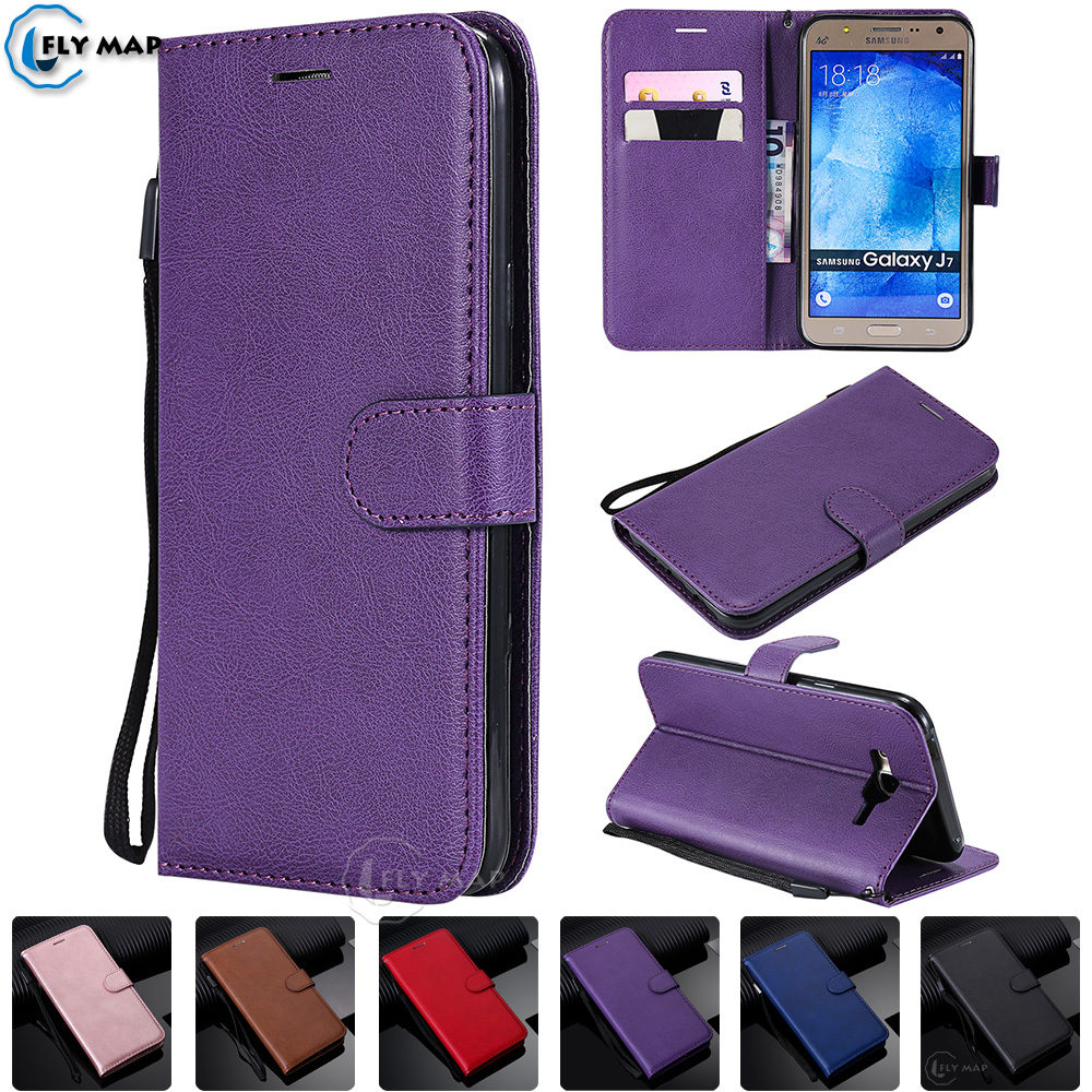 Wallet Case for <font><b>Samsung</b></font> Galaxy J7 2015 <font><b>SM</b></font> <font><b>J700H</b></font> <font><b>J700H</b></font>/DS Flip Phone Leather Cover for <font><b>Samsung</b></font> J 7 2015 <font><b>SM</b></font>-<font><b>J700h</b></font> <font><b>SM</b></font>-<font><b>J700H</b></font>/DS Case image