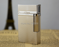 S T Memorial Dupont Lighter Bright Sound New In Box Silver Serial Number C125