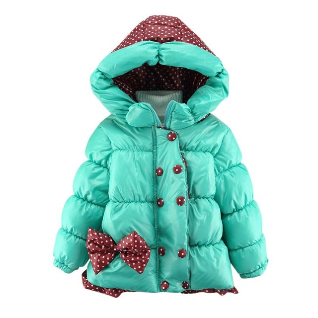a24b07ac8 Baby Girls Winter Coats Jackets Hooded Cartoon Flower Children ...