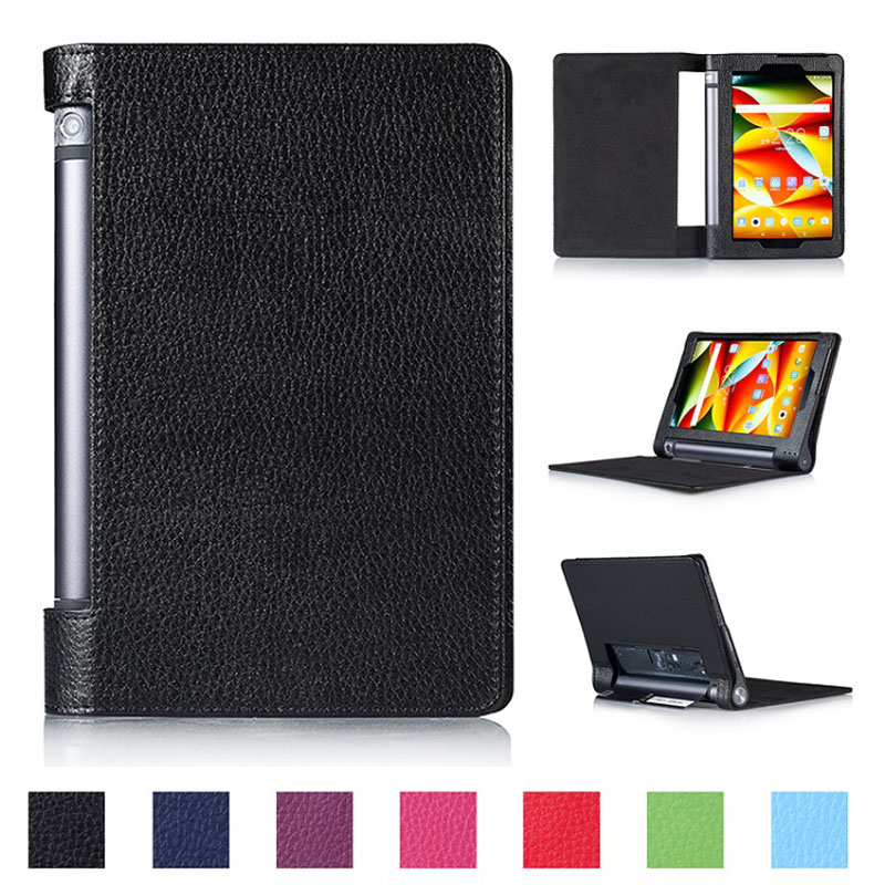 HOT! High quality Litchi leather case cover for Lenovo Yoga tablet 3 8 850F table case for lenovo tab 3 850F YT3-850F case+gift