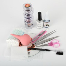 New Professional 1 Set Lady False Eyelash Extension Kit Set Eye Lashes Glue Cosmetic Tools Hot Gift