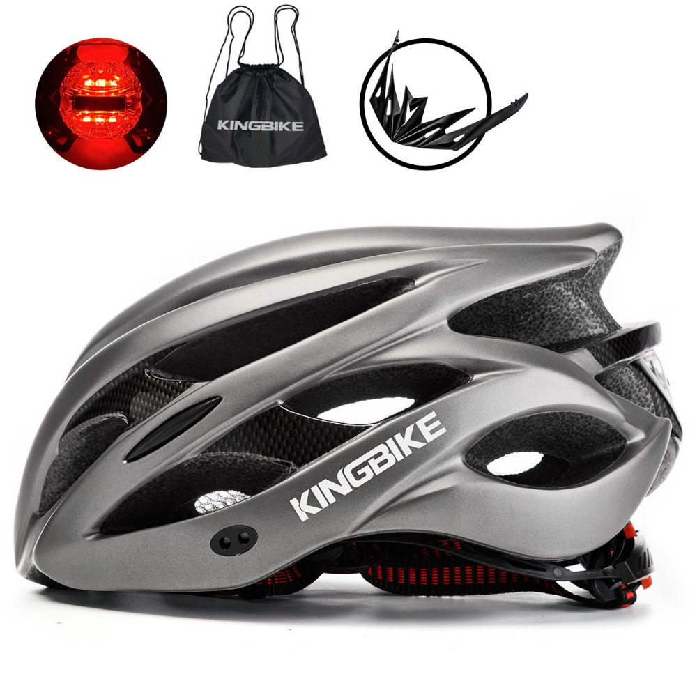 BASECAMP Bicycle Helmet Titanium Ultralight In-mold Cycling Helmet With Visor Breathable Road Mountain MTB Outdoor Bike Helmet