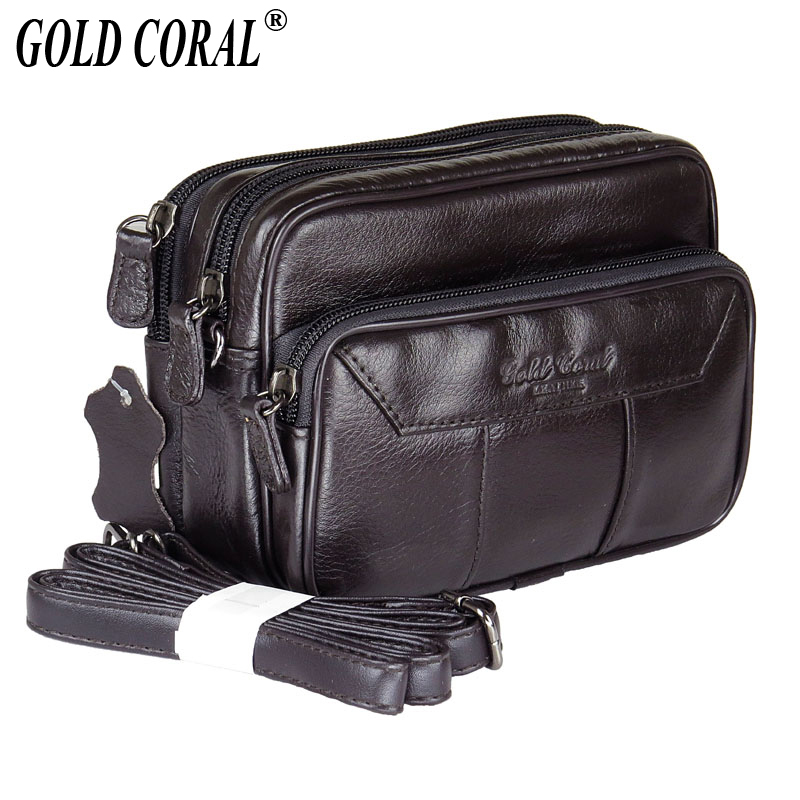 Genuine Leather Waist Belt Bag Men Small Messenger Bags Casual Shoulder Bag Phone Pouch Purse Bags Male Travel Fanny Waist Pack