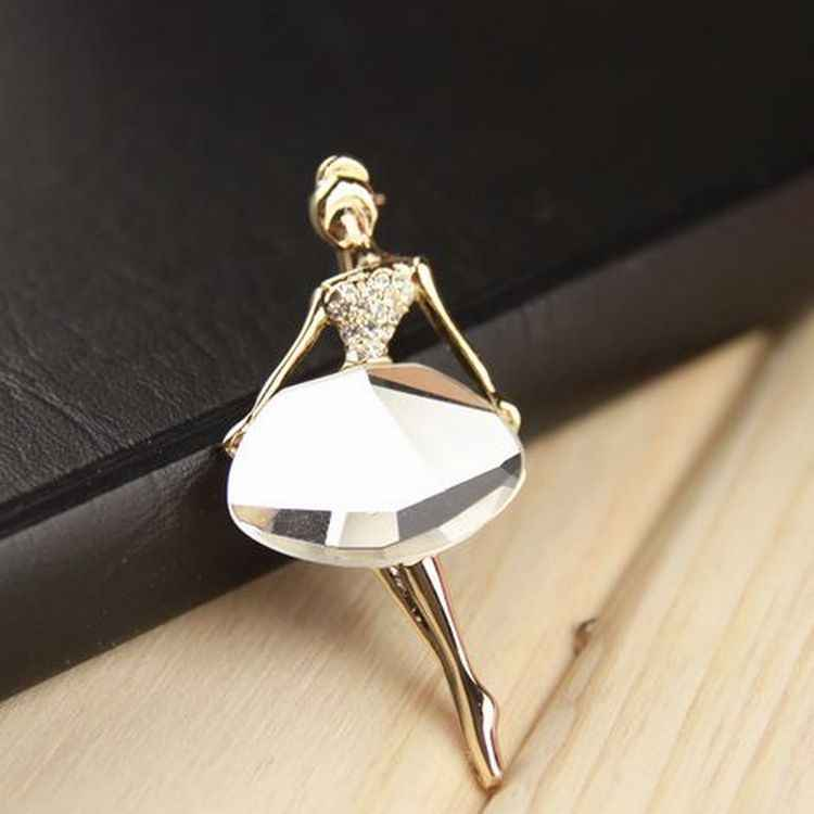 (1 шт.) корейские ювелирные изделия оптом балетная девушка мода темперамент брошь модные ювелирные броши