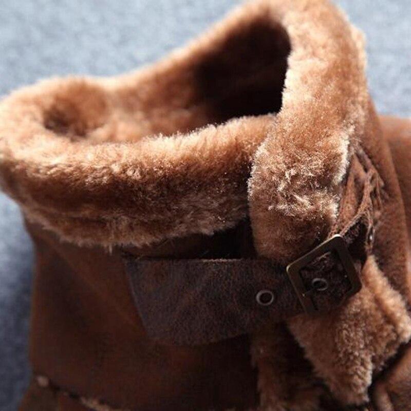 Gaya Rusia Winter Lelaki Bulu Jaket Kulit Faux kasual Fesyen - Pakaian lelaki - Foto 6