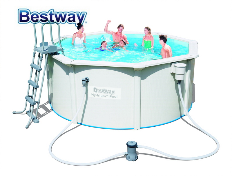 56563 Bestway 300*120 cmHYDRIUM POOL 10x12\' Runde Rahmen Schwimmbad ...