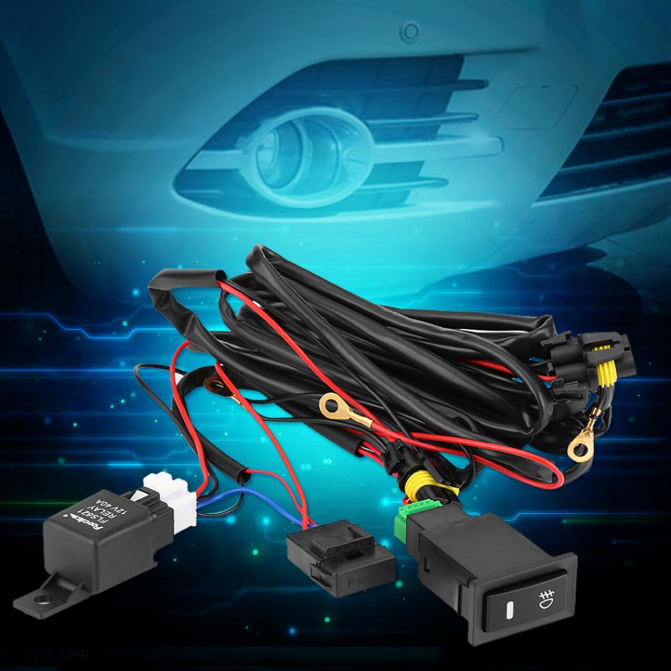 New Wiring Harness Kit Fuse Relay Switch 12V Universal Car LED Fog ...