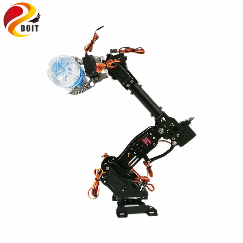 DOIT DoArm S8 8Dof robot Arm/Hand Stainless Steel Metal Robotic Manipulator/ ABB Arm Model Remote Control Model DIY