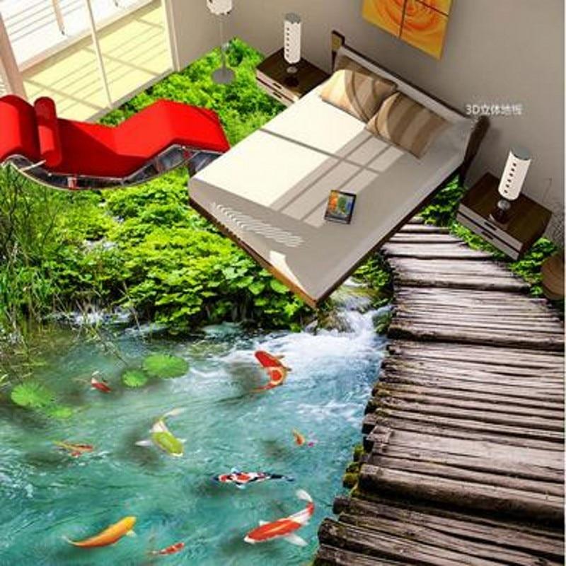 Beibehang 3D пользовательская паста визуальные эффекты фрески ванная комната Нескользящая водостойкая утолщение 3d обои природа бесплатные обои
