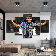 5 Pieces Cristiano Ronaldo Posters Wall Canvas Paintings Italy Football Sports Art Prints Kids Room Home Decor
