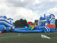 Inflatable Water Slide Games for Sale Play Water Toys Beach Fun with Swimming pool