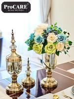 Kreative Europäische Vase Dekoration Glas Transparent Amerikanischen Esstisch Licht Luxus Weichen Dekoration Wohnzimmer|Wohnlandschaften|   -