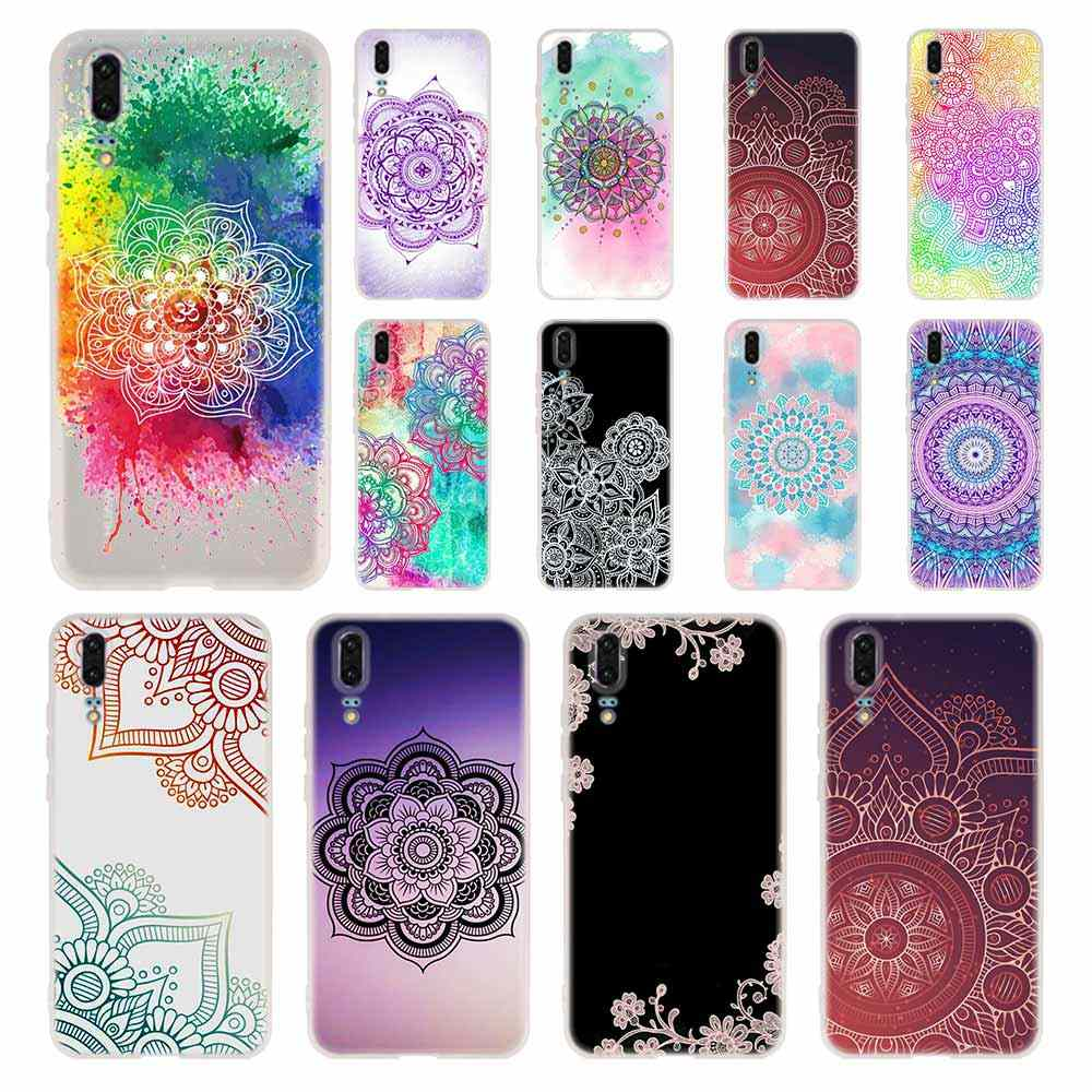 Floral Paisley Mandala Henna Phone Case For Huawei P8 P9 Lite 2017 P10 P20 P30 Lite Plus Pro P Smart 2019 Cover Soft Cover