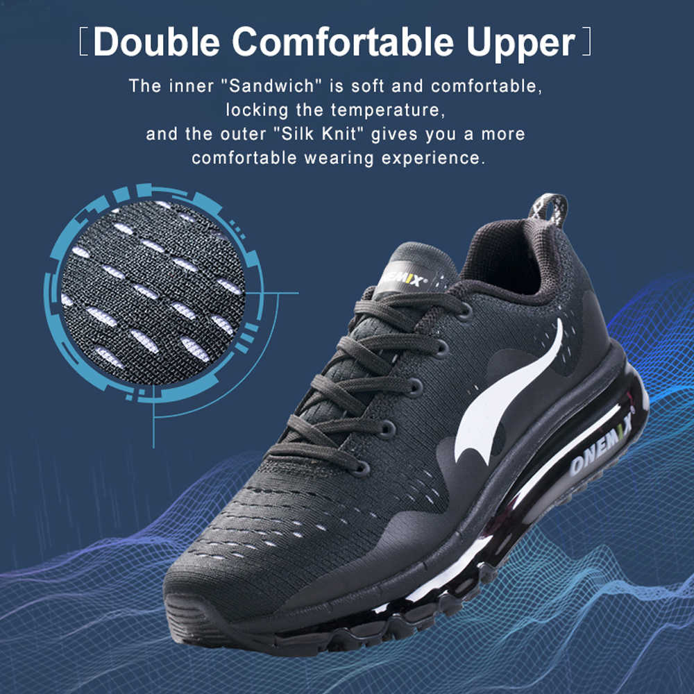 separation shoes 35902 f236a ... ONEMIX Air 95 Men Sports Running Shoes cushioning breathable Massage  Sneakers for men Max 270 sport ...