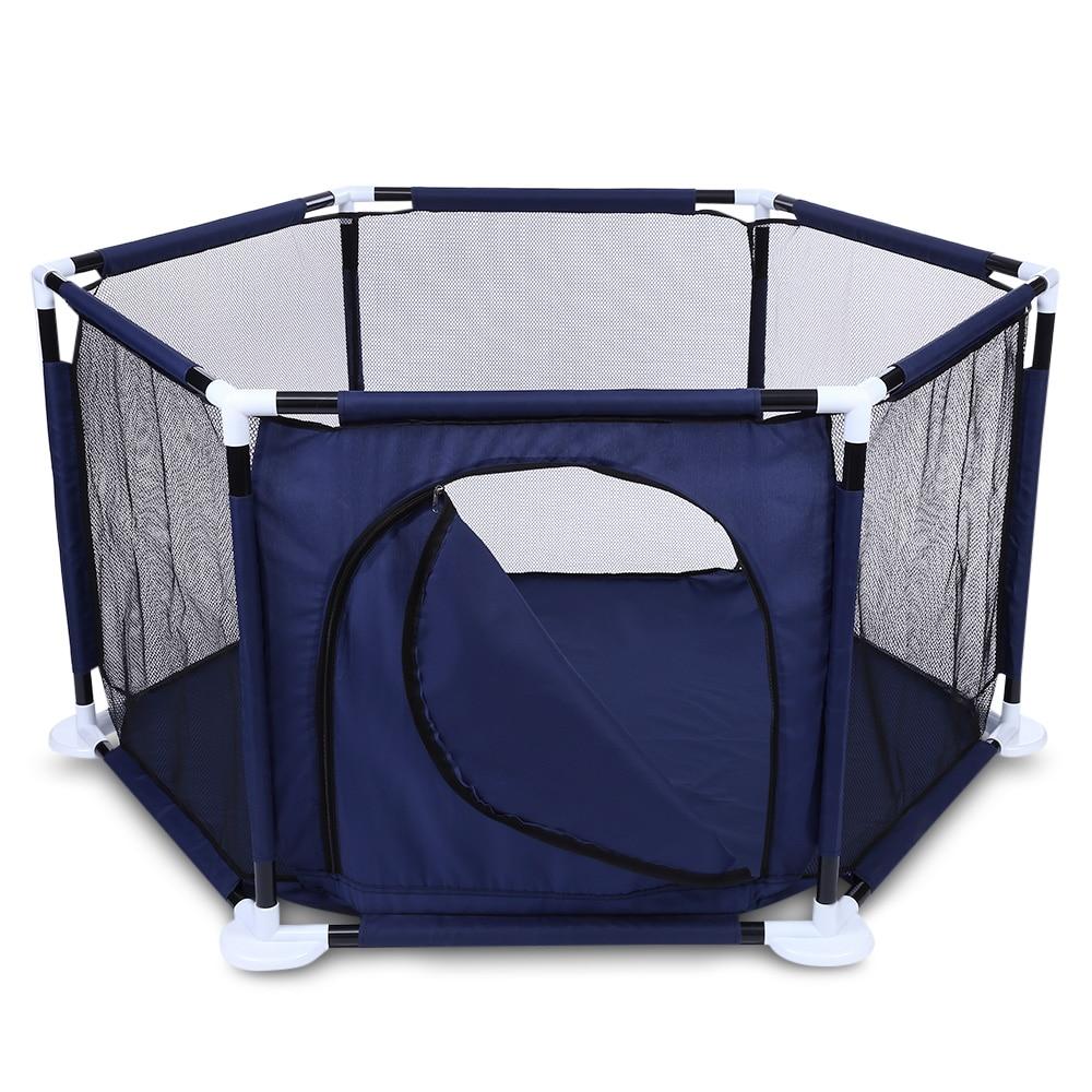 Filet surélevé Hexagonal piscine à balles jouer clôture Playyard enfants jouet tente intérieur extérieur bébé parcs enfants tente pour enfants 2018