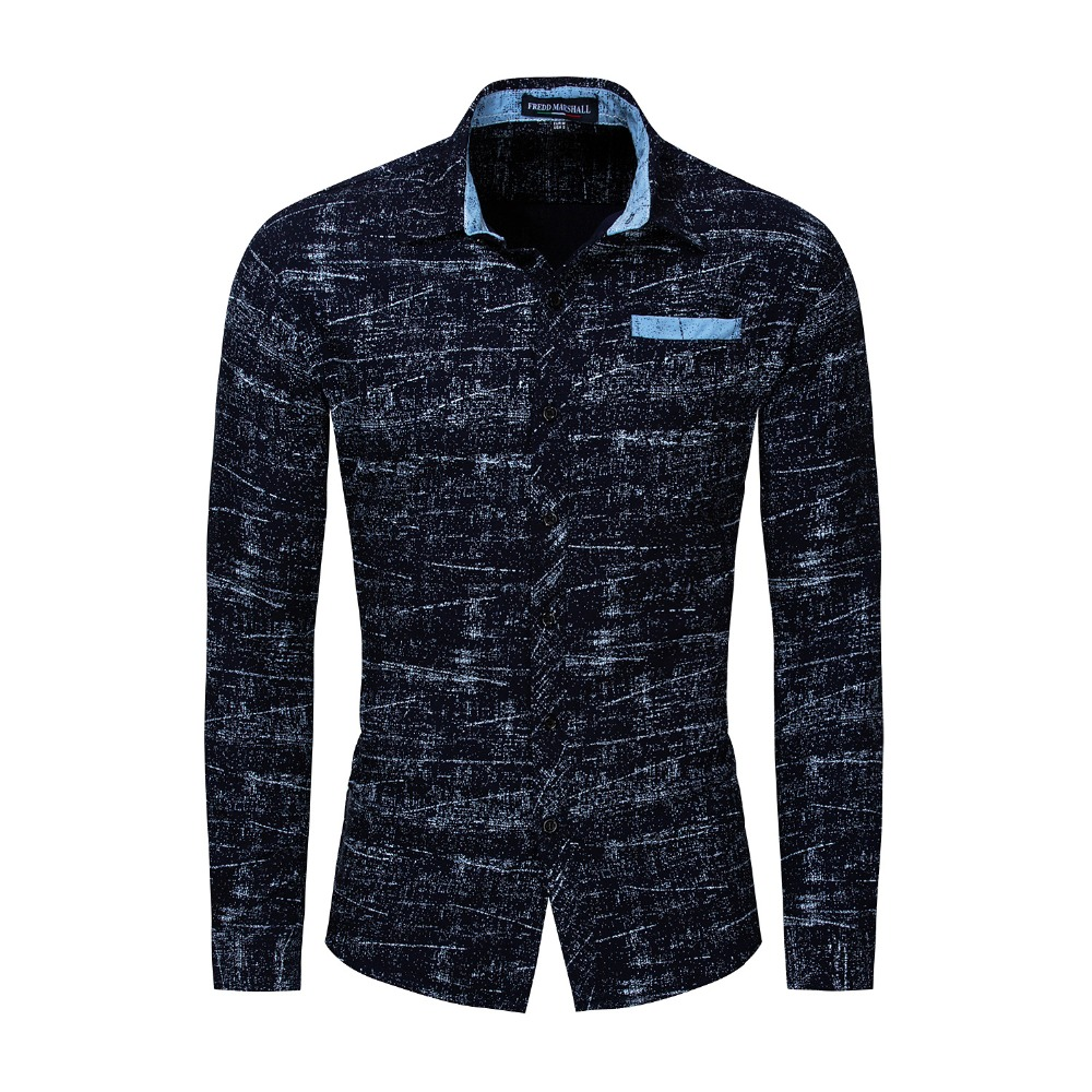 New Arrival Casual Business Men Dress Shirts Luxury Brand Long Sleeve Cotton Stylish High Quality Males Shirts
