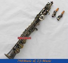 Antique Bronze Soprano Saxophone Bb key to High F&G key-2 Neckes