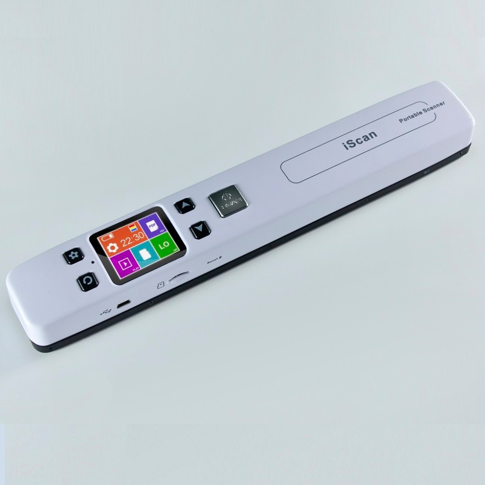 High Speed Portable Scanner A4 Size Document Scanner 1050DPI JPG/PDF Support 32G TF Card Mini Scanner Pen with Pre View PIcture l1000 portable hd 10mp 3672x2856 usb camera photo image document book a3 a4 scanner visual presenter high speed ocr scanner a3