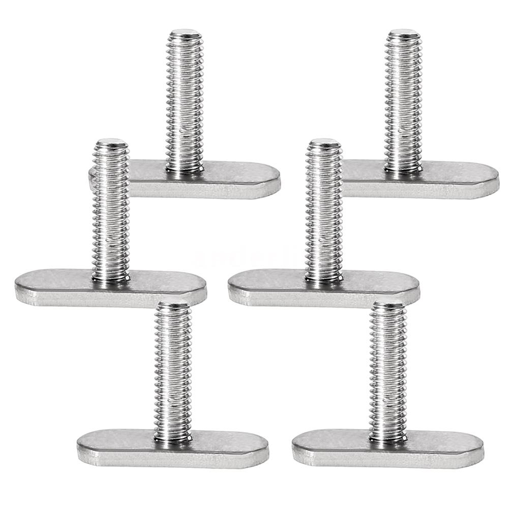 6pcs Outdoor Mini Water-Skiing Tool Stainless Steel Kayak Screws Canoe Boat Accessories Rails Bolts Easy Use Fishing Parts