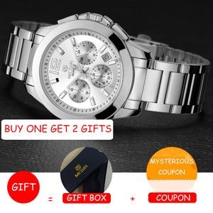Image 2 - MEGIR 女性の恋人腕時計トップの高級ブランド女性クロノグラフ時計エレガントな古典的な女性時計ガールクォーツ腕時計新 5006