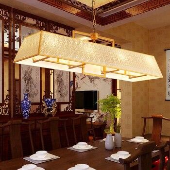 Chinesischen stil rechteckigen anhänger lampen restaurant LED wohnzimmer lampen kreative persönlichkeit eisen anhänger licht Z027647