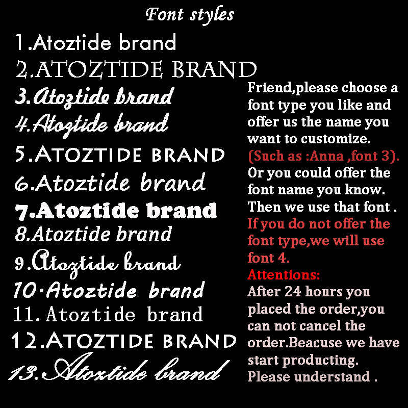 Atoztide Stainless Steel Customized Name Letter Necklace Women Personalized  Initial Gold Old English Chain Necklace Nameplate