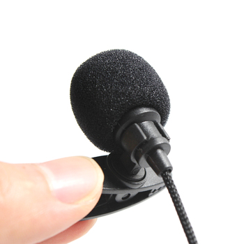 2M Universal Portable 3.5mm Mini Headset Microphone Lapel Lavalier Clip Microphone Mini Audio Mic For PC Laptop Lound Speaker