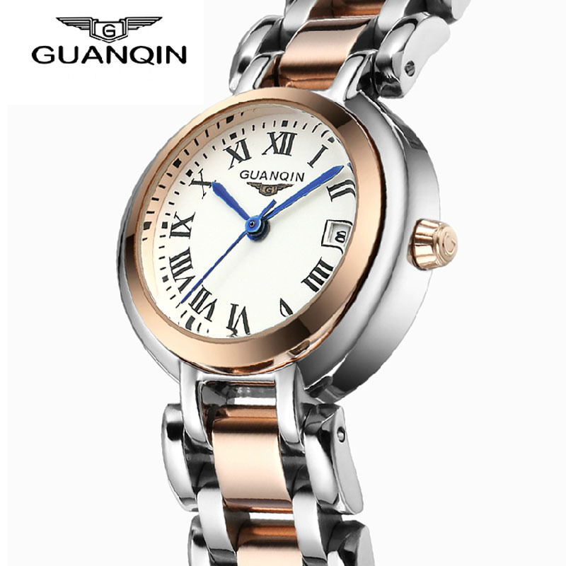 ФОТО Relojes Mujer 2017 GUANQIN Luxury Fashion Quartz Watch Women Diamond Stainless Steel Waterproof Women Watches relogio feminino