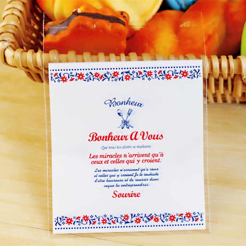 100 pcs 10 cm Presente da Festa de Aniversário Decoração Do Casamento Saco do Presente Sacos De Embalagem Auto Adesivas Pacote de Bolo de Biscoito Doce