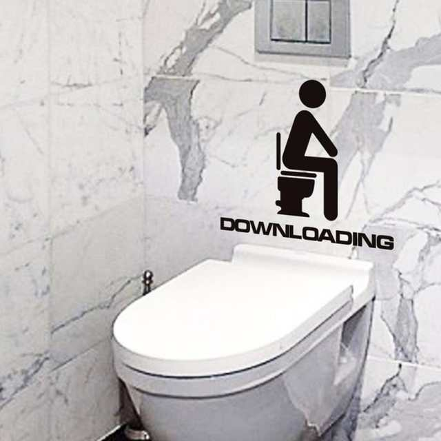 Awesome Us 0 73 Funny Removable Diy Toilet Seat Decorative Decals Wc Bathroom Mildew Proof Art Vinyl Wall Sticker With Downloading Letters In Wall Stickers Ibusinesslaw Wood Chair Design Ideas Ibusinesslaworg