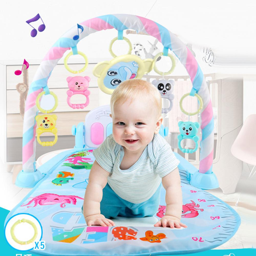 3 In1Baby Play Mat Rug Baby Gym Tapis Puzzles Mat Infant Cartoon Cradle Toys Play Mat Crawling Music Play Game Developing Mat